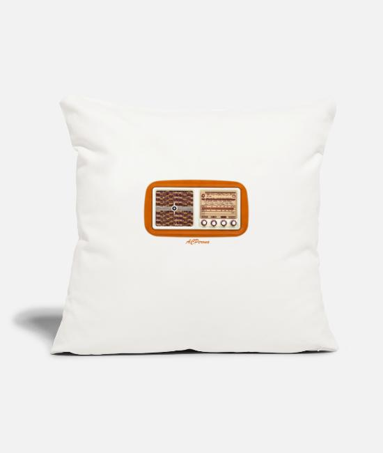 Father's Day Pillow Cases - Vintage Radio - Pillowcase 17,3'' x 17,3'' (45 x 45 cm) natural white