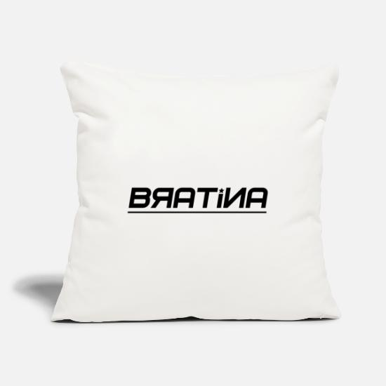 Rap Pillow Cases - Bratina Hip Hop Rap Deutschrap 3 - Pillowcase 17,3'' x 17,3'' (45 x 45 cm) natural white