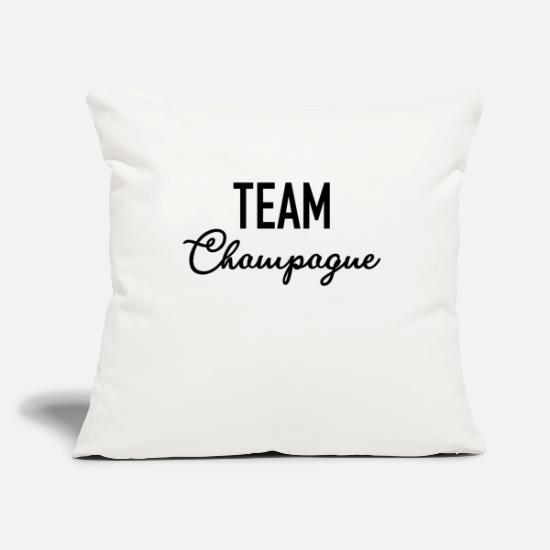 Alcohol Pillow Cases - Team Champagne - Champagne - Champagne - Alcohol - Pillowcase 17,3'' x 17,3'' (45 x 45 cm) natural white