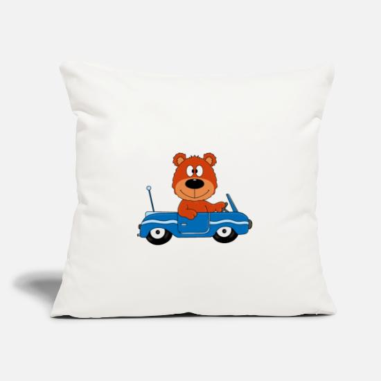 License Pillow Cases - TEDDY BEAR - CAR - SPORTS CAR - DRIVING LICENSE - CAR - Pillowcase 17,3'' x 17,3'' (45 x 45 cm) natural white