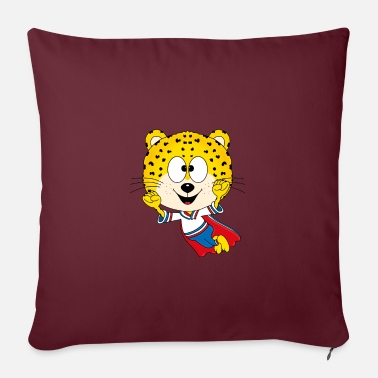 Mood Funny leopard - cheetah - superhero - Pillowcase 17,3'' x 17,3'' (45 x 45 cm)
