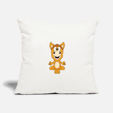 Gallop Funny horse - yoga - chilling - relaxing - animal - Pillowcase 17,3'' x 17,3'' (45 x 45 cm)