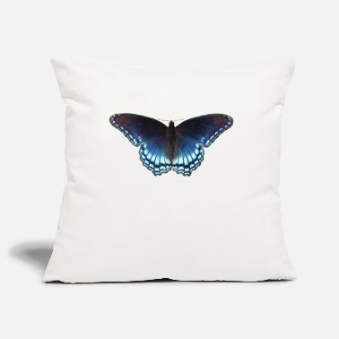 Butterfly in blue with great gradient - Pillowcase 17,3'' x 17,3'' (45 x 45 cm)
