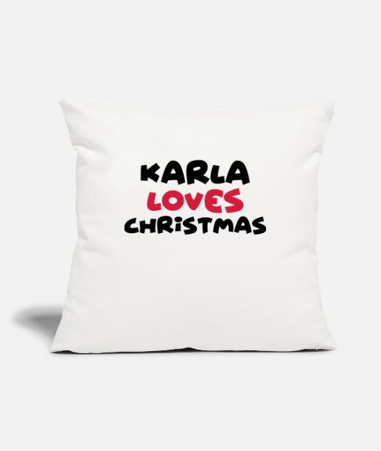Christmas Pillow Cases - karla loves christmas xmas name - Pillowcase 17,3'' x 17,3'' (45 x 45 cm) natural white