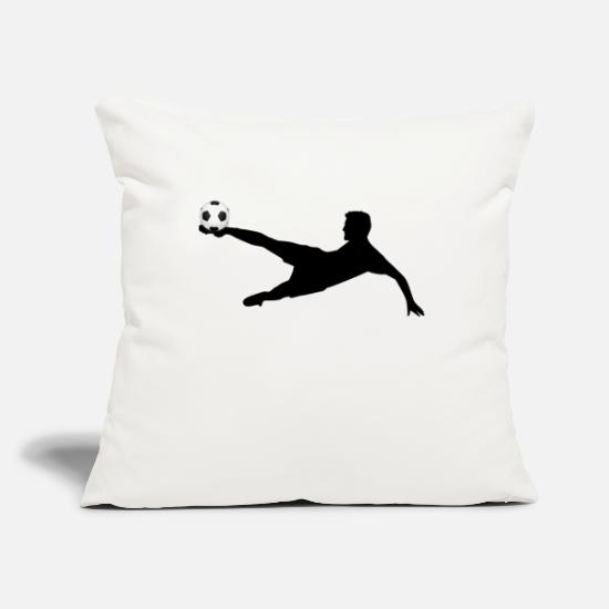Ball Pillow Cases - Soccer - Pillowcase 17,3'' x 17,3'' (45 x 45 cm) natural white