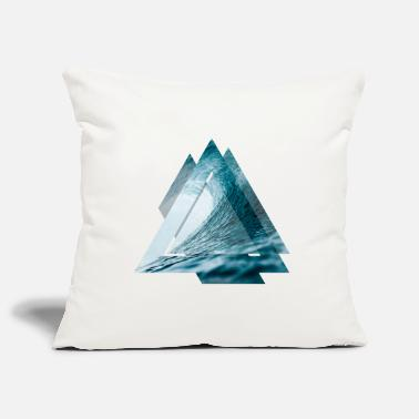 Triangle surfer wave - Pillowcase 17,3'' x 17,3'' (45 x 45 cm)