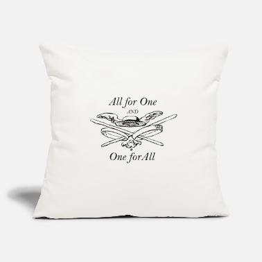 All For One All for One and One for All - The Three Musketeers - Pillowcase 17,3'' x 17,3'' (45 x 45 cm)