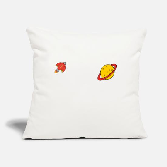 Animal Pillow Cases - space - Pillowcase 17,3'' x 17,3'' (45 x 45 cm) natural white