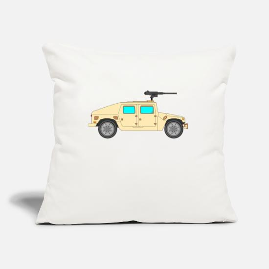 Army Pillow Cases - Military vehicle - Pillowcase 17,3'' x 17,3'' (45 x 45 cm) natural white