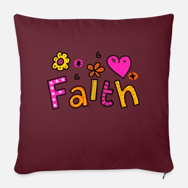 Whimsical Whimsical Faith Word - Pillowcase 17,3'' x 17,3'' (45 x 45 cm)