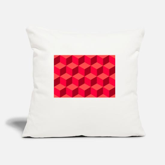 Optical Illusion Pillow Cases - Optical illusion in the cube - Pillowcase 17,3'' x 17,3'' (45 x 45 cm) natural white