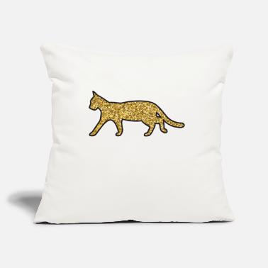 Glitter cat - Pillowcase 17,3'' x 17,3'' (45 x 45 cm)