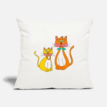 Stylized stylized kittens - Pillowcase 17,3'' x 17,3'' (45 x 45 cm)