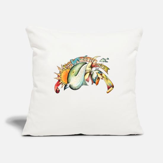 Wonderland Pillow Cases - A Daydreamer's Mind Color - Pillowcase 17,3'' x 17,3'' (45 x 45 cm) natural white