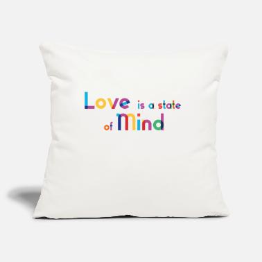 Love Is A State Of Mind - Rainbow Typography - Pillowcase 17,3'' x 17,3'' (45 x 45 cm)