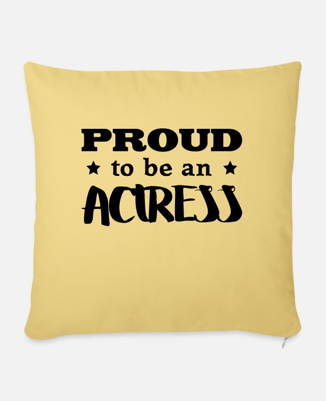 Movie Pillow Cases - actress proud to be - Pillowcase 17,3'' x 17,3'' (45 x 45 cm) washed yellow