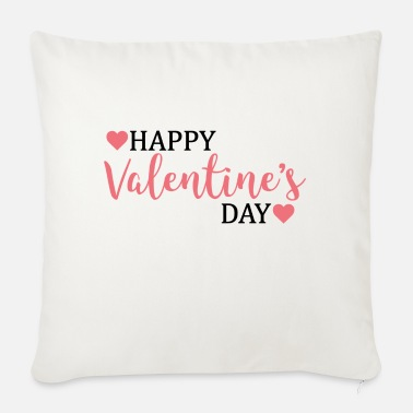 Valentines Day happy valentines day / valentines day - Pillowcase 17,3'' x 17,3'' (45 x 45 cm)