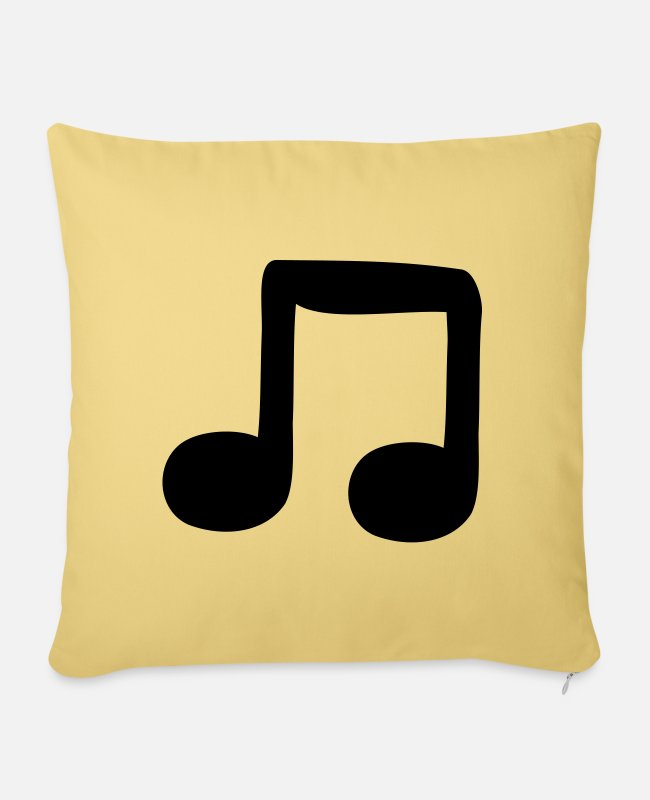 Guitar Pillow Cases - quavers - Pillowcase 17,3'' x 17,3'' (45 x 45 cm) washed yellow