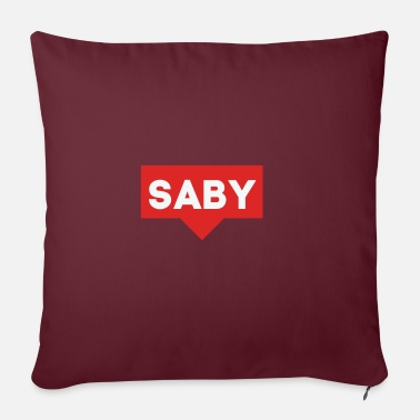Birth Name SABY / LAST NAME / BIRTH NAME / ORIGINAL / - Pillowcase 17,3'' x 17,3'' (45 x 45 cm)