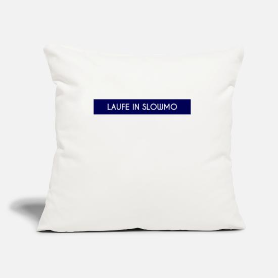 Blue White Pillow Cases - Walk in Slowmo Slowmotion Slow Motion Blue Box Motive - Pillowcase 17,3'' x 17,3'' (45 x 45 cm) natural white