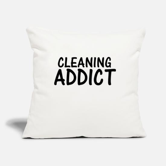 Clean Pillow Cases - cleaning addict - Pillowcase 17,3'' x 17,3'' (45 x 45 cm) natural white