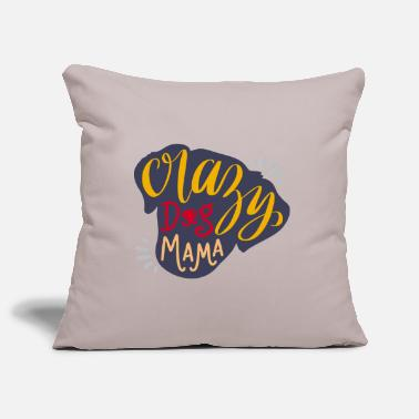 All Lovely Ideas Crazy dog mama - Pillowcase 17,3'' x 17,3'' (45 x 45 cm)