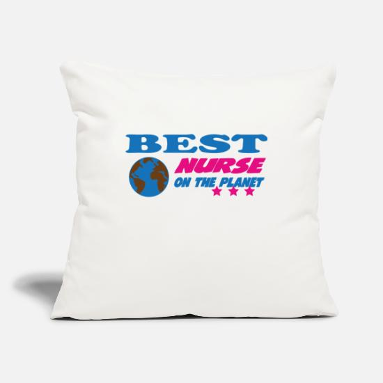 Doctor Pillow Cases - Best nurse on the planet - Pillowcase 17,3'' x 17,3'' (45 x 45 cm) natural white