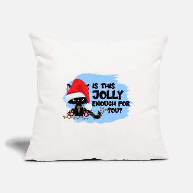 Blue Is This Jolly Enough For You Kitty Christmas Funny - Pillowcase 17,3'' x 17,3'' (45 x 45 cm)
