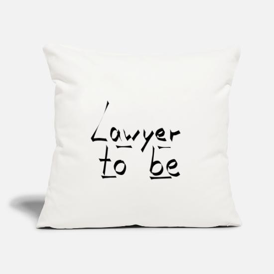 Professor Pillow Cases - lawyer to be - Pillowcase 17,3'' x 17,3'' (45 x 45 cm) natural white