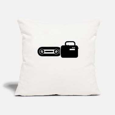 Chain Saw Kettensäge / chain saw (1c) - Pillowcase 17,3'' x 17,3'' (45 x 45 cm)