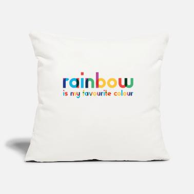 Rainbow - Favorite Color - Typography - Pillowcase 17,3'' x 17,3'' (45 x 45 cm)