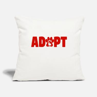 To Adopt To adopt! - Pillowcase 17,3'' x 17,3'' (45 x 45 cm)