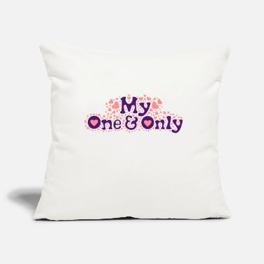 Wedding ❤Ü✦My One and Only-Romantic Love and Hearts✦Ü❤ - Pillowcase 17,3'' x 17,3'' (45 x 45 cm)