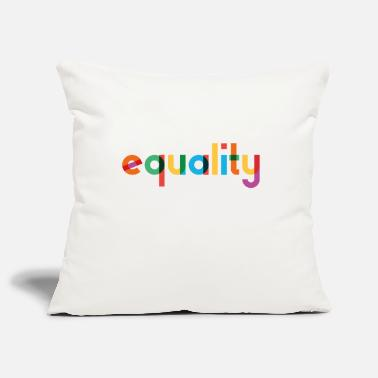 Equality - Rainbow Typography - Pillowcase 17,3'' x 17,3'' (45 x 45 cm)