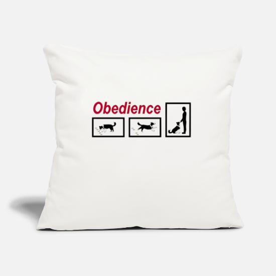 Cute Dog Pillow Cases - Obedience - Pillowcase 17,3'' x 17,3'' (45 x 45 cm) natural white