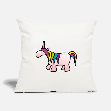 Funny Unicorn Unicorn - Funny Unicorn - Pillowcase 17,3'' x 17,3'' (45 x 45 cm)