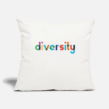 Diversity - Rainbow Typography - Pillowcase 17,3'' x 17,3'' (45 x 45 cm)