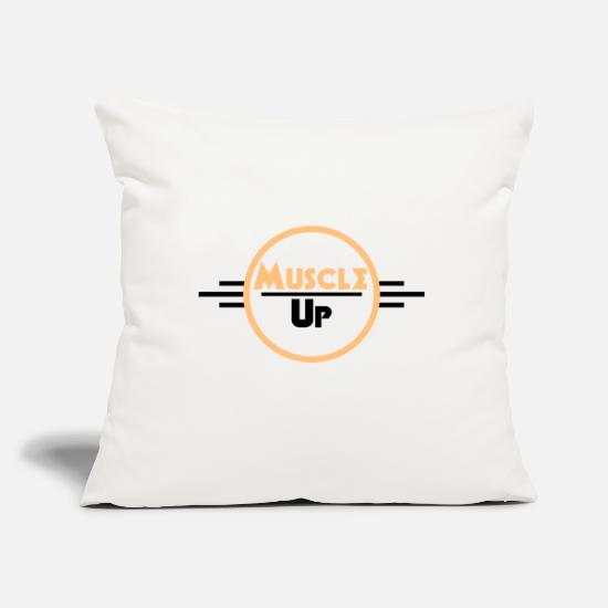 Sports Pillow Cases - Muscle Up - Pillowcase 17,3'' x 17,3'' (45 x 45 cm) natural white