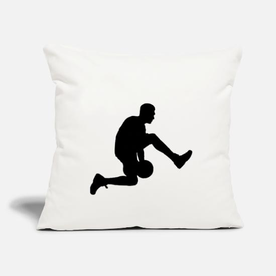 Gift Idea Pillow Cases - Basketball player - Pillowcase 17,3'' x 17,3'' (45 x 45 cm) natural white