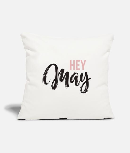 Pink Pillow Cases - hey may - Pillowcase 17,3'' x 17,3'' (45 x 45 cm) natural white
