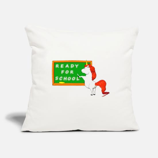 Back To School Pillow Cases - at the beginning of school t - Pillowcase 17,3'' x 17,3'' (45 x 45 cm) natural white