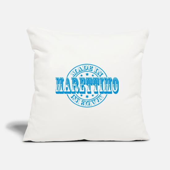 Italy Pillow Cases - Made in Marettimo m1 - Pillowcase 17,3'' x 17,3'' (45 x 45 cm) natural white