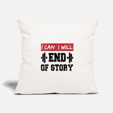 Muscle I can. I will. End of story. Motivation vintage - Pillowcase 17,3'' x 17,3'' (45 x 45 cm)