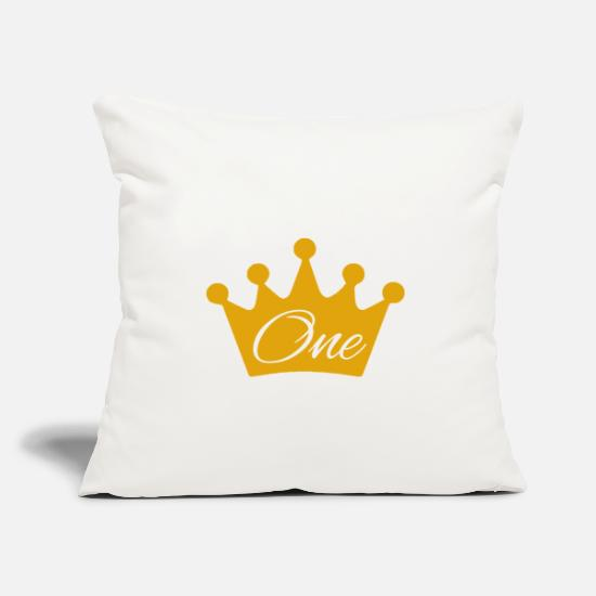 Birthday Pillow Cases - 1st birthday - Pillowcase 17,3'' x 17,3'' (45 x 45 cm) natural white