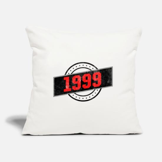 Birthday Pillow Cases - 1999 year of birth - Pillowcase 17,3'' x 17,3'' (45 x 45 cm) natural white