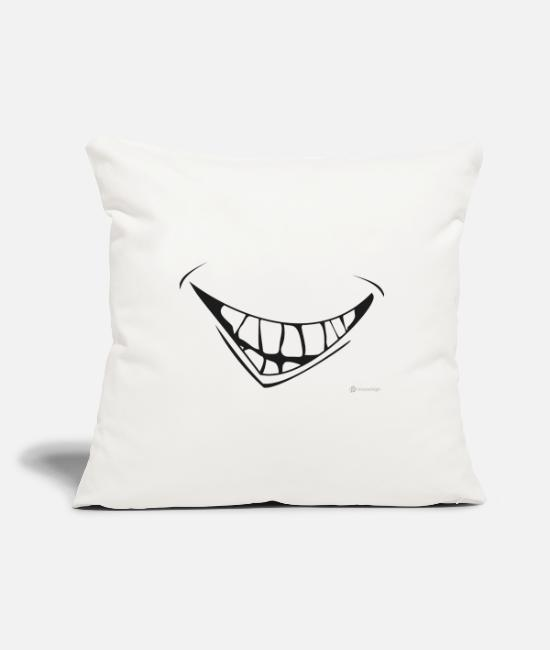 Masquerade Pillow Cases - Laughter mask - Pillowcase 17,3'' x 17,3'' (45 x 45 cm) natural white
