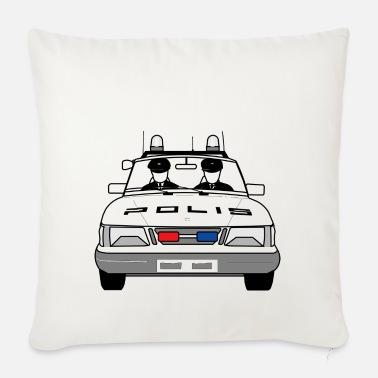 Polis Polizei Polizeiauto Streifenwagen Blaulicht Mousepad (Querformat) Weiß