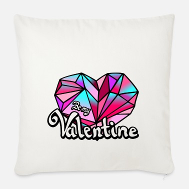 Valentines Day Valentine's Day Be my Valentine geometric - Pillowcase 17,3'' x 17,3'' (45 x 45 cm)