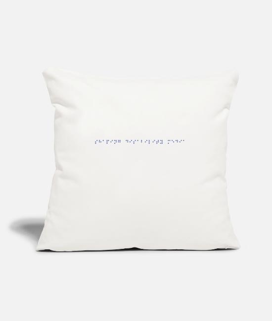 Training Pillow Cases - SHAPING DISABILITY MEDIA (BRAILLE) - Pillowcase 17,3'' x 17,3'' (45 x 45 cm) natural white