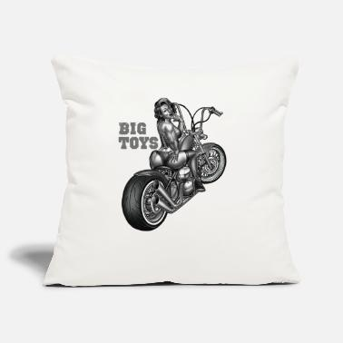 Rockabilly Biker Shirt Big toys pin up custom chopper - Kissenhülle
